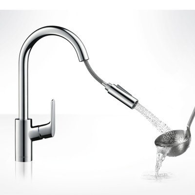 Hansgrohe Focus Single Lever Kitchen Pull Out Spray Chrome